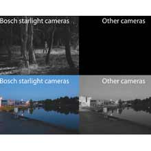 Bosch Starlight HD cameras work with minimal ambient light, delivering clear images in a multitude of applications