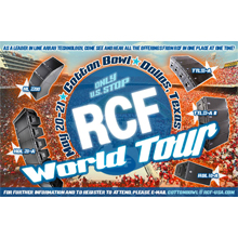 RCF is a leader in line array technology
