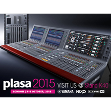 The Yamaha stand is at the heart of the Audio zone in PLASA Show's new layout